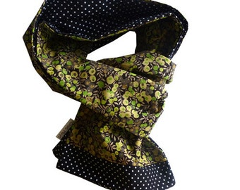 Scarf liberty wiltshire green and black