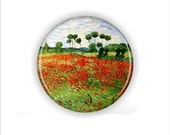 Van Ghoh 'Field of Poppies' Coaster Set - CassiesCoasterShop