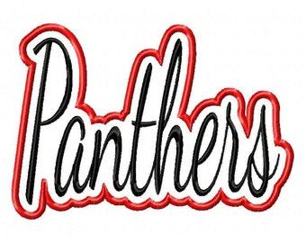 Panthers Text Applique Frames Designs N009