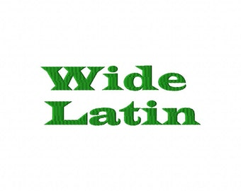 Wide Latin Machine Embroidery Fonts  2153