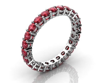 Shared Prong Round Ruby Eternity Ring With Open Gallery (1.70 ct. tw.)