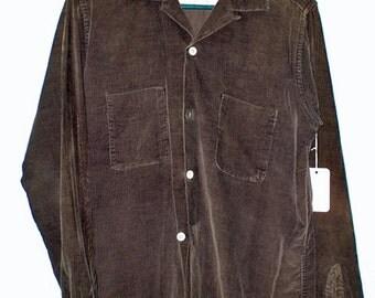 "Vintage 50s ""Pilgrim Sportswear"" Men's Outdoorsy Cord Shirt — M 15-15 1/2"