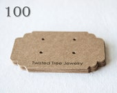 Custom Earring Cards With Your Shop Name Or Logo-2.5 by 1.5 inches- Many Colors Avaialble(100 Cards)