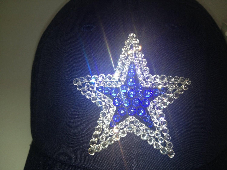 Swarovski Crystal Bling Dallas Cowboys Adjustable Hat