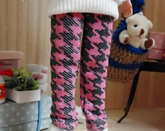 blythe clothes,Pants houndtooth pink dc098