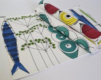 Scandinavian Mid century fabric Placemats - Almedahls Picknick