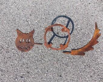 Tiki Face Metal Yard Art By Cuttingedgecraftsmen On Etsy