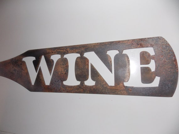 Custom Metal WINE Sign Plaque Decor Bottle by
