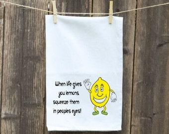 Lemon Kitchen Flour Sack Towel-Tea-Dish-Hand-Kitchen-Lemon Man