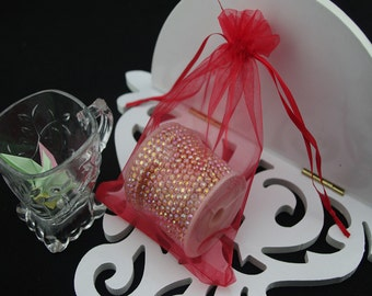 50  5''x7''  Red Organza Jewelry Gift Pouch Bags Great For Wedding favors, sachets, beads, jewelry, and more