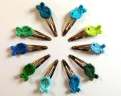 Set of two crocheted fish hair clips - choose your own set