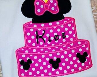 Mouse Birthday Cake Applique Shirt or Onesie