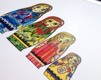 Living dead dolls, A3 Print