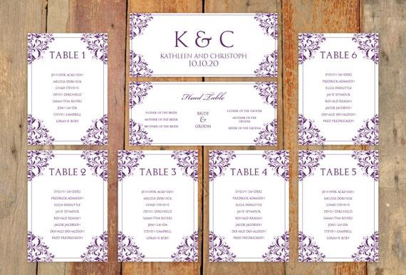 printable wedding seating chart template .
