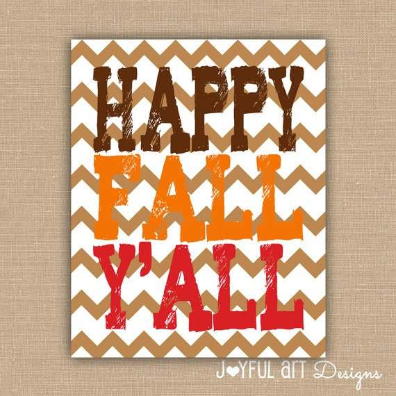 Items similar to Happy Fall Y'all PRINTABLE. Customized
