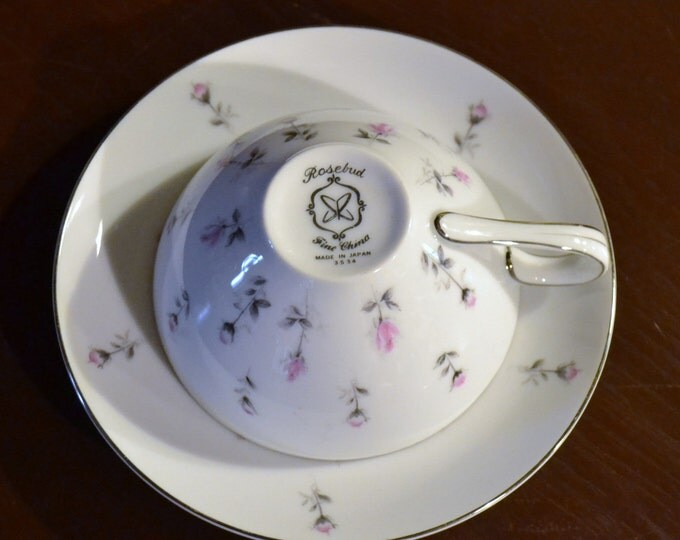 Vintage Harmony House Rosebud Teacup and Saucer Japan Replacement panchosporch