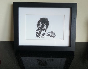 Framed cow print, limited edition