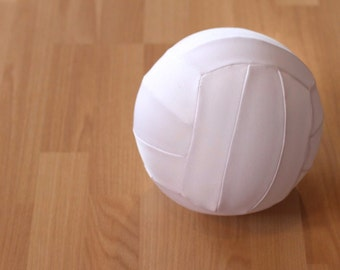 Volleyball Gift, Real Size Fabric covered Balloon Volleyball, Very Light Ball, White Volleyball