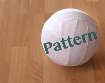 Fabric Balloon Volleyball Sewing Pattern - My Little Athlete