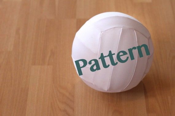 Fabric Balloon Volleyball Sewing Pattern My Little Athlete