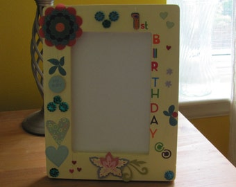 1st Birthday picture frame