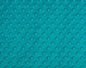 Minky - Teal Cuddle Dimple Dot Minky by Shannon Fabrics, 1 Yard