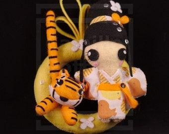 Asian Astrology Sign: Tiger/OOAK/handmade Doll