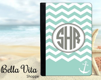 Personalized iPad Case, Personalized iPad Cover,  Personalized iPad Mini Case, Anchor Chevron Monogrammed