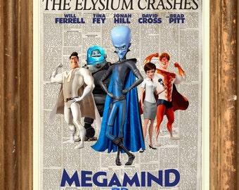 Megamind Metro Man Roxanne Ritchie Titan Poster Print wall art  HH10677 S15