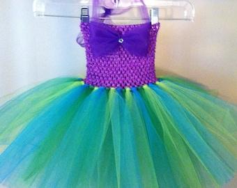 Ariel Tutu Dress, newborn-4 yo