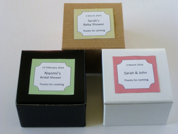 Items Similar To 100 Personalized Wedding Favor Box Party Favor Boxes Custo