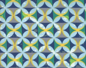 SUPER CLEARANCE!  One Yard Barcelona - Spanish Tiles in Sky Blue Multi - Cotton Quilt Fabric - Zen Chic for Moda Fabrics  (W587)