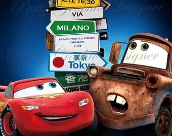 Cars Disney Digital Invitation