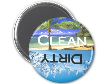 Beach and Ski Clean Dirty Dishwasher Magnet