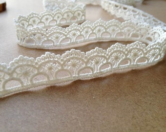Cotton Ribbon Lace, White Cotton Lace Trim, Lace Gift Wrap, Embellishment Lace
