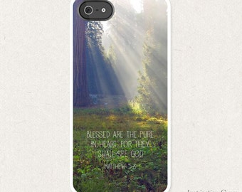Matthew 5:8 Bible Verse Phone Case Sunstream - Christian Bible Verse Phone Case SKU#MAT0050080-500002