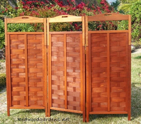 privacy screens indoor outdoor self standing redwood by