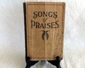 Vintage Music Book ,Songs of Praises