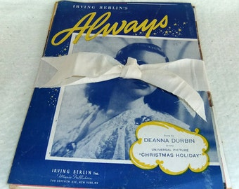 "Vintage Sheet Music Bundle including the song.""Always"""