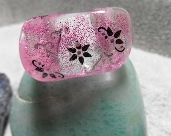 Pink acrylic ring
