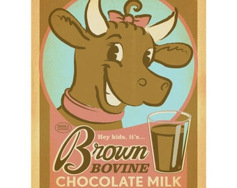 Chocolate Milk Brown Cow Wall Decal #41719