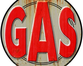 Gas Station Gasoline Weathered Wall Decal #40806