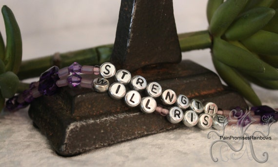 Strength Will Rise - Isaiah 40:31 - Christian Inspirational Beaded Bible Verse Bracelet