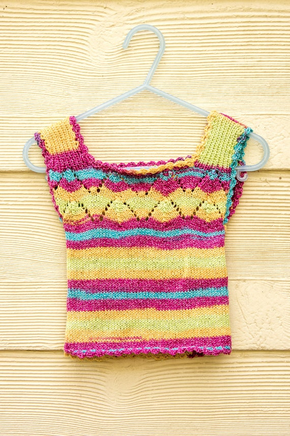 Knitting Pattern For Ruffle Baby Vest : KNITTING PATTERN Baby Vest Baby Singlet Top Baby by heaventoseven