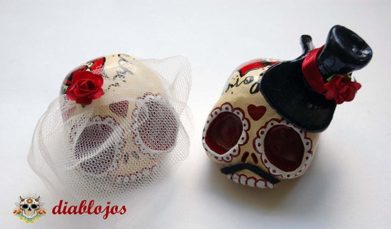 candy skull wedding cake toppers wedding sugar skulls cake toppers and groom mexican day 12353