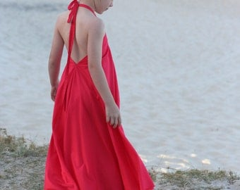 Windswept Maxi dress pattern - PDF pattern - child sizing (3 to 12 years)
