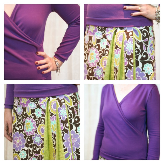 BUNDLE - combo deal - Wrapped Up top and Origami skirt pattern bundle: Ladies' Editions - PDF patterns