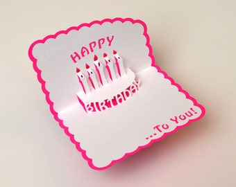 popup birthday card from me to you light by artsytreeproducts, Birthday card