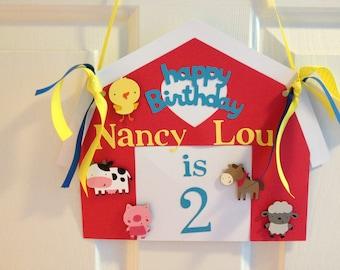 Farm or Barnyard Animal Themed door sign