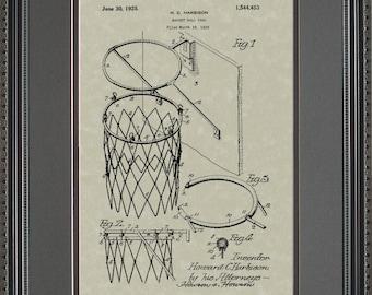 Basketball Goal Patent Art Player Coach Gift H4453